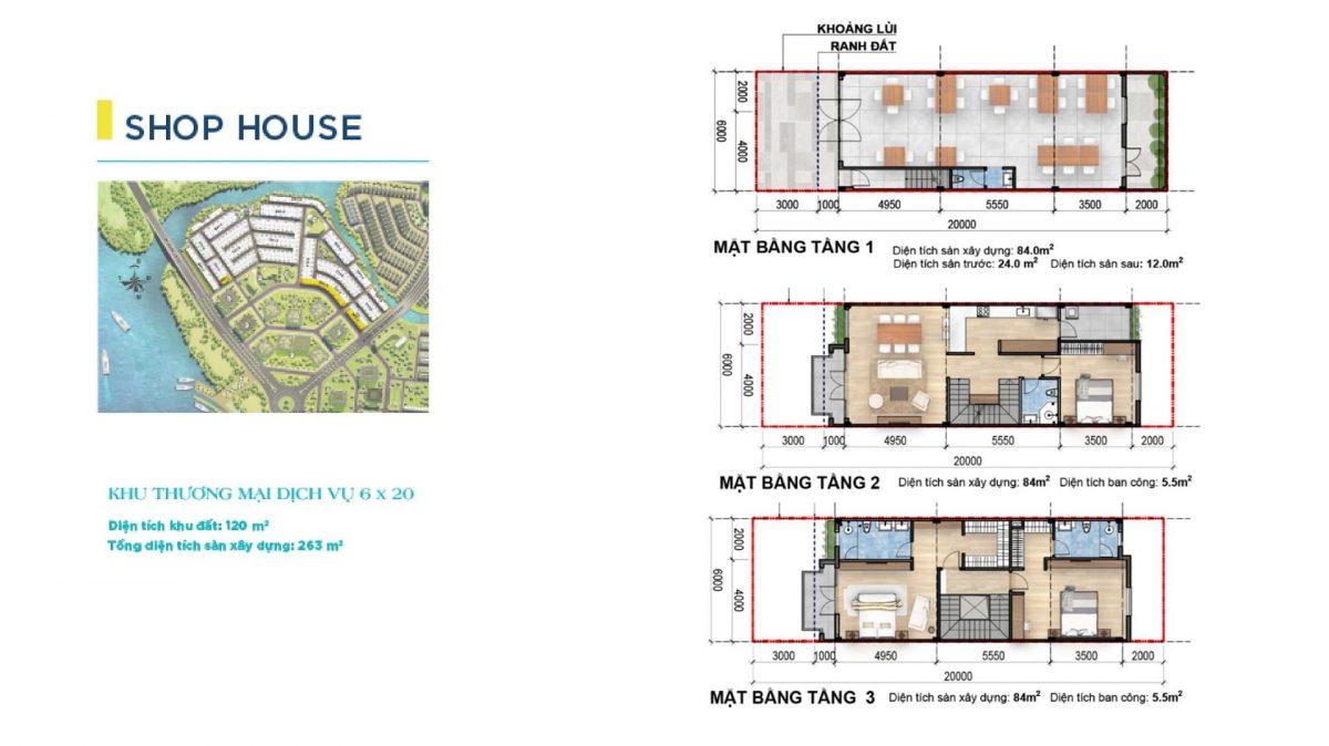 SHOPHOUSE  6x20M