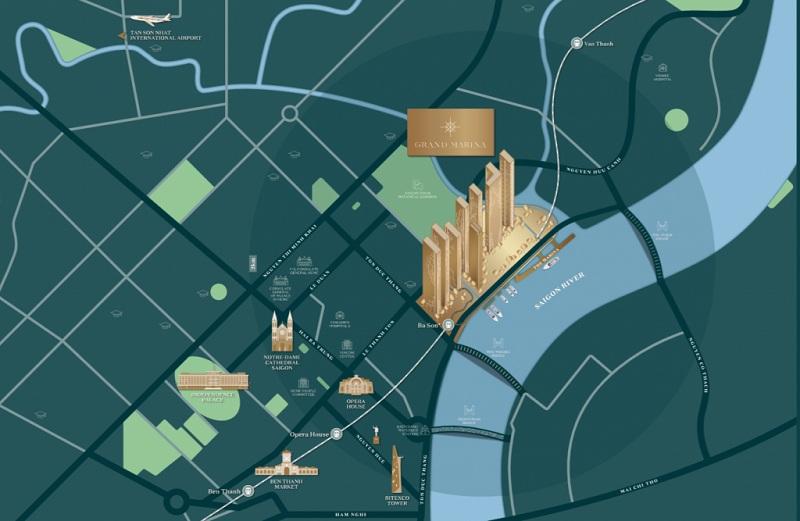 Grand Marina SaiGon sở hữu vị trí xây dựng chiến lược có 1 không 2