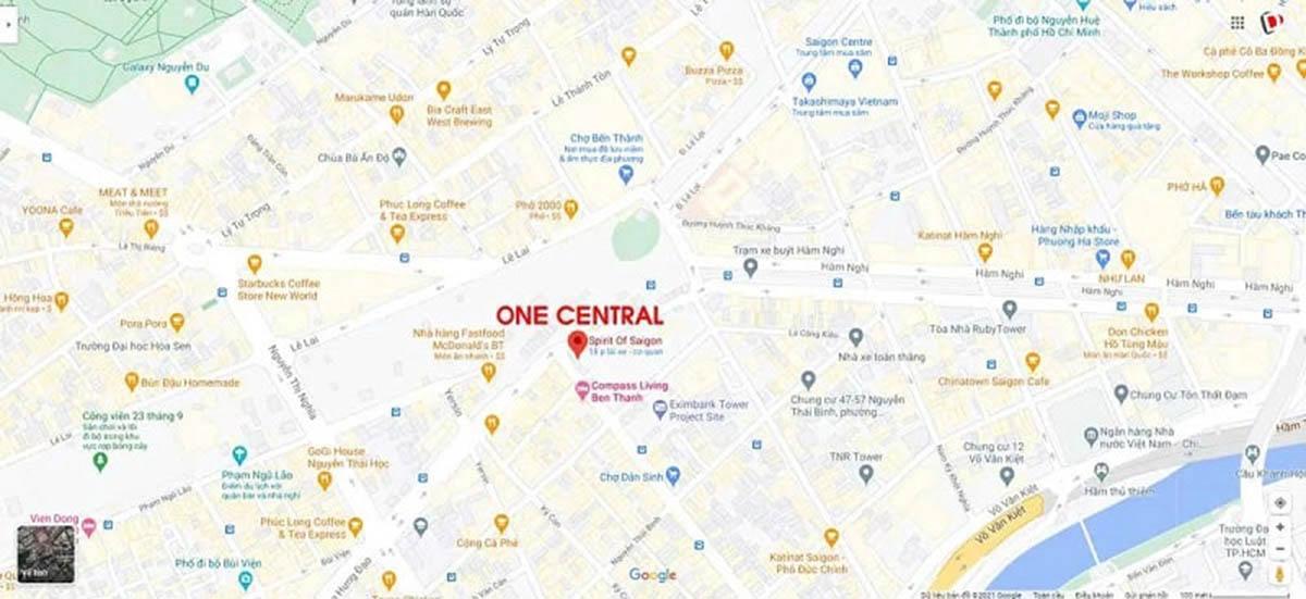"""One Central Saigon tọa lạc tại mảnh đất """"vàng"""" hiếm có"""