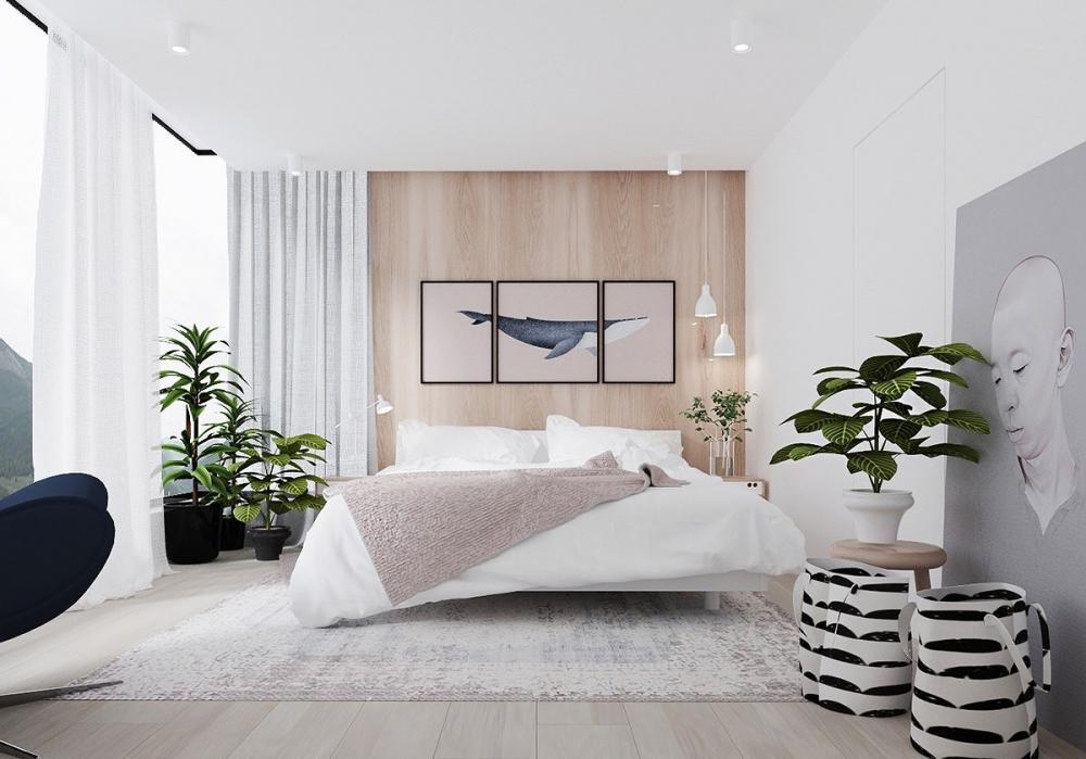 Trang trí phòng ngủ bằng những cây xanh để căn phòng thêm xanh mát hơn