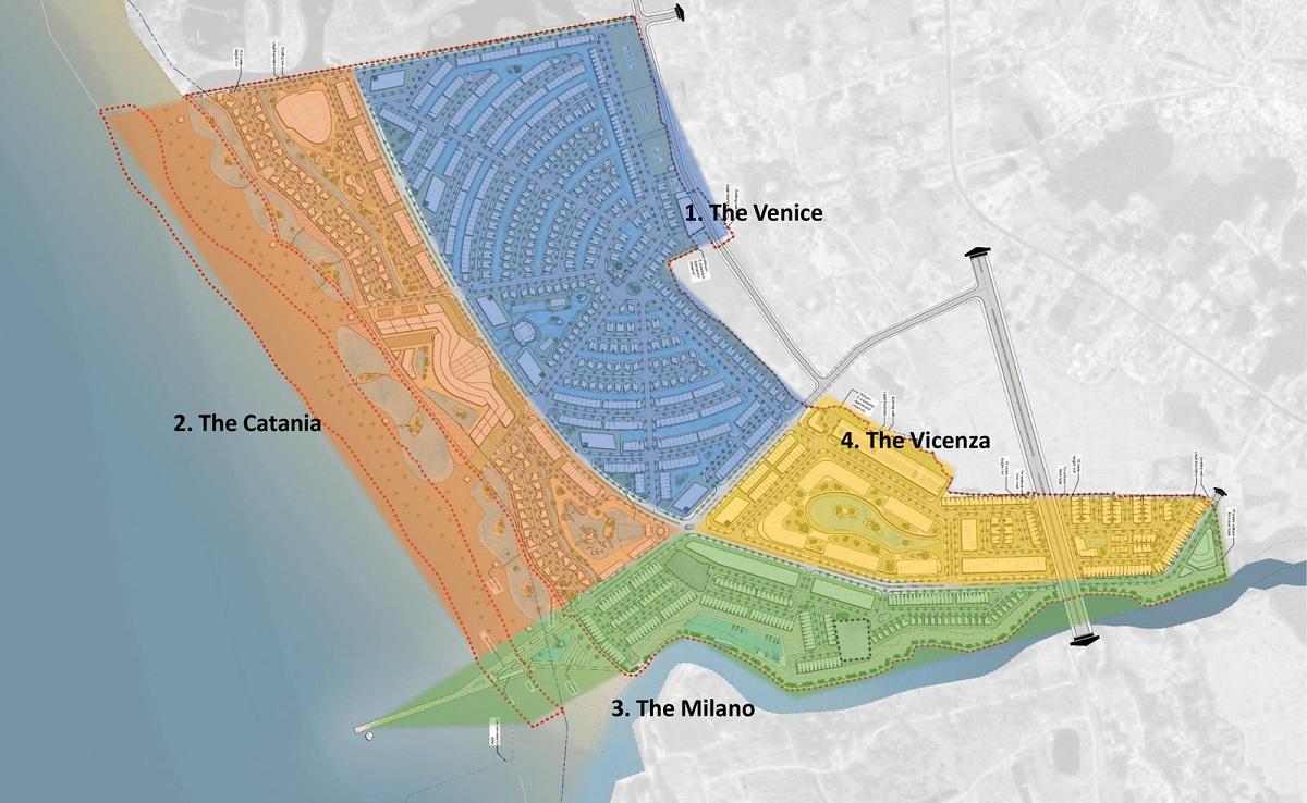Chi tiết các phân khu được xây dựng trong tổng thể dự án Venezia Beach Hồ Tràm Bình Châu