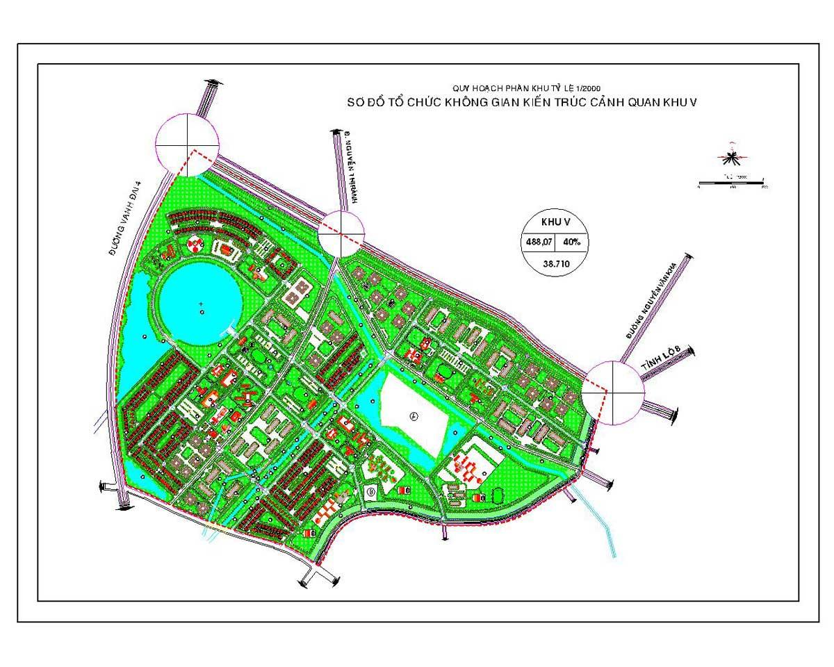 Chi tiết mặt bằng phân khu V của dự án Vinhomes Hóc Môn