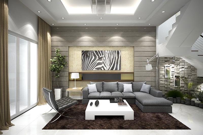 Sắp xếp nội thất dựa trên diện tích phòng khách