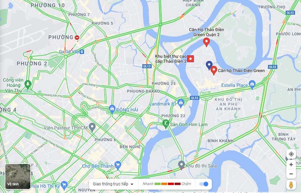Dự án sở hữu vị trí chiến lược bao bọc bởi nhiều tuyến đường huyết mạch của thành phố