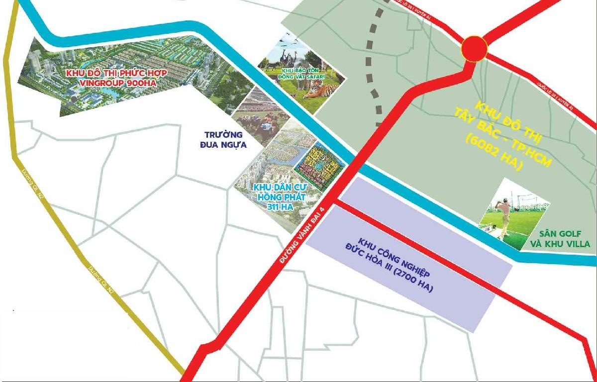 Dự án thuộc vị trí chiến lược trong cửa ngõ phía Tây Bắc thành phố Hồ Chí Minh