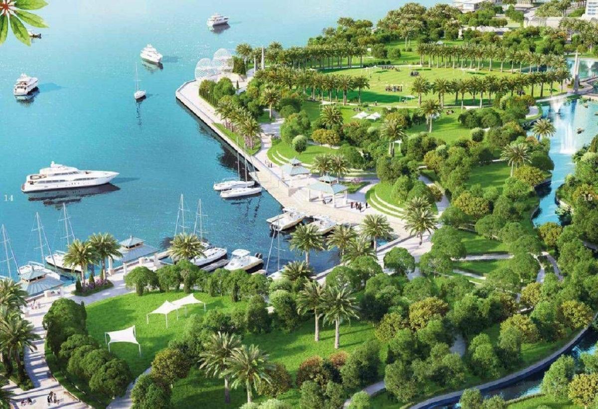 Khu công viên ven biển Vinhomes Cần Giờ bạt ngàn cây xanh