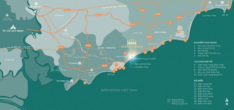 """Khu du lịch sinh thái Venezia Beach sở hữu vị trí """"vàng"""" của khu vực"""