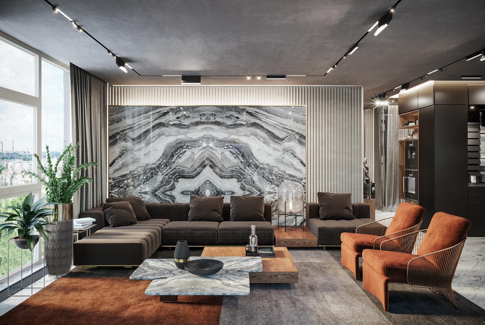 Thiết kế nội thất phong cách Luxury tinh tế và sắc sảo