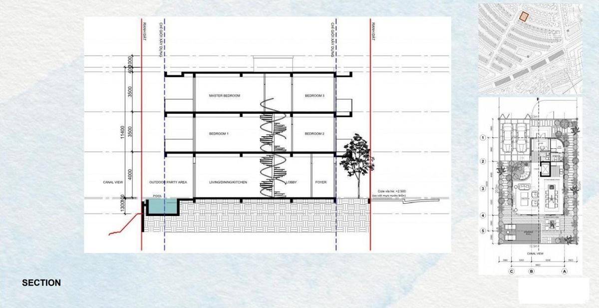 Mặt bằng chi tiết biệt thự Detached Villa của dự án Venezia Beach