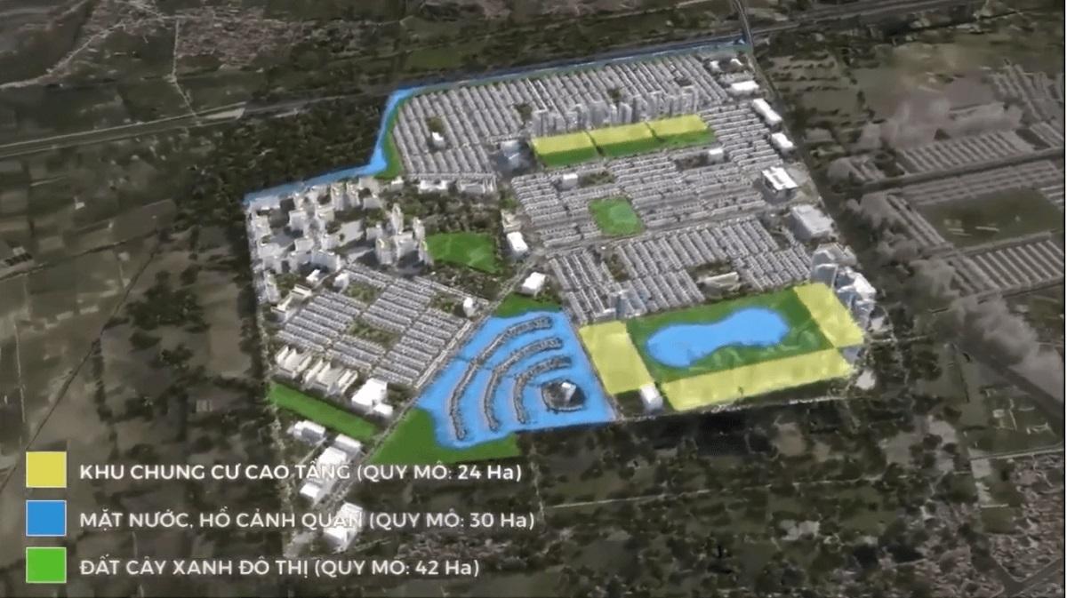 Mặt bằng chi tiết phân khu chung cư cao cấp tại Vinhomes Dream City Hưng Yên
