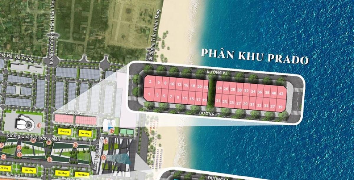 Mặt bằng chi tiết phân khu Prado Sun Grand Boulevard Sầm Sơn Thanh Hoá