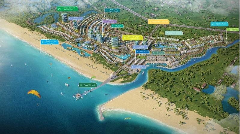 Mặt bằng phân bố tiện ích Venezia Beach Hồ Tràm