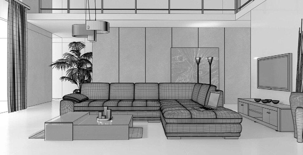 Sắp xếp nội thất dựa trên kiến trúc phòng khách