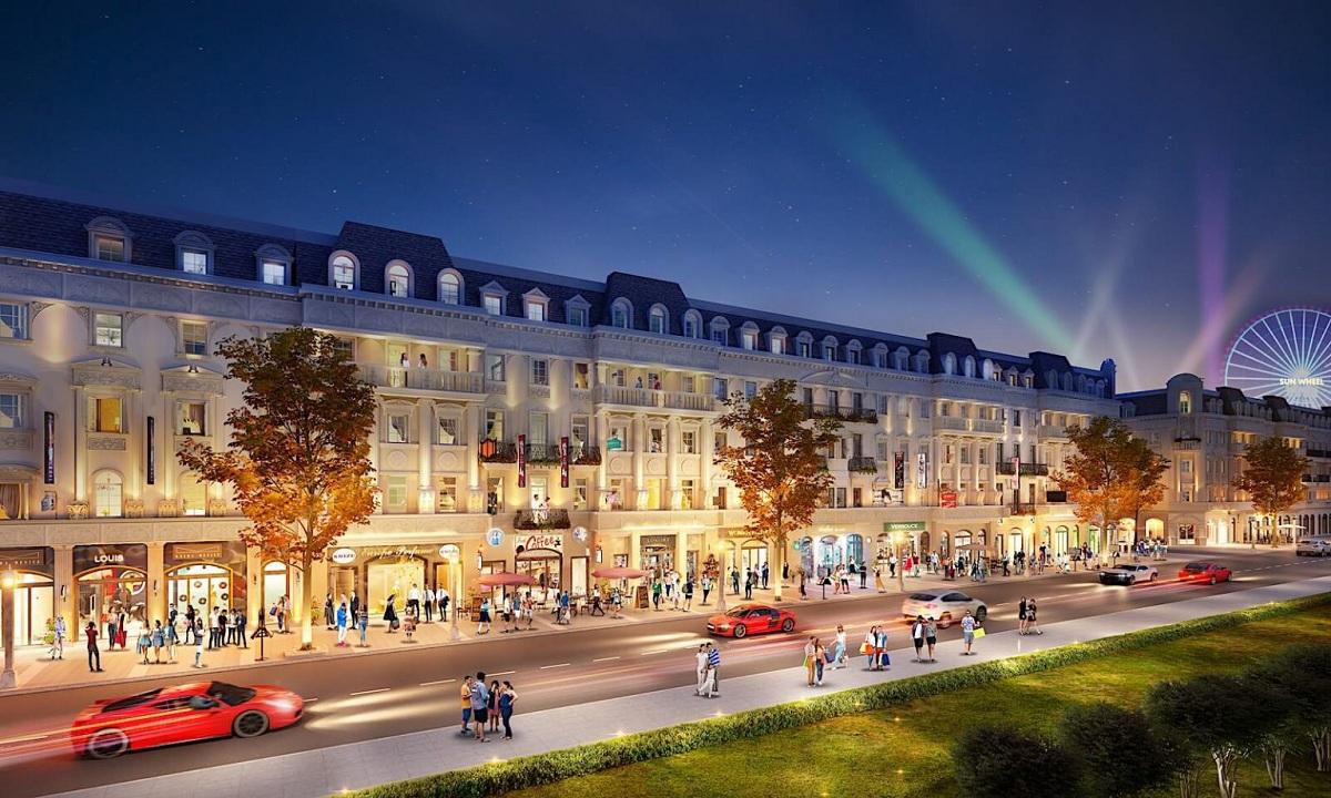 Mẫu sản phẩm Shophouse dự kiến sẽ được mở bán trong giai đoạn 1 của dự án