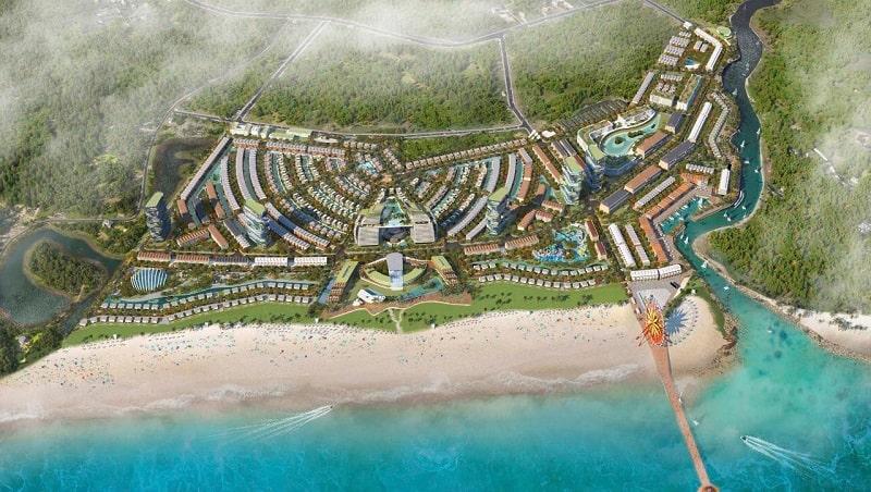 Phối cảnh đắt giá từ vị trí Venezia Beach Village Bình Châu