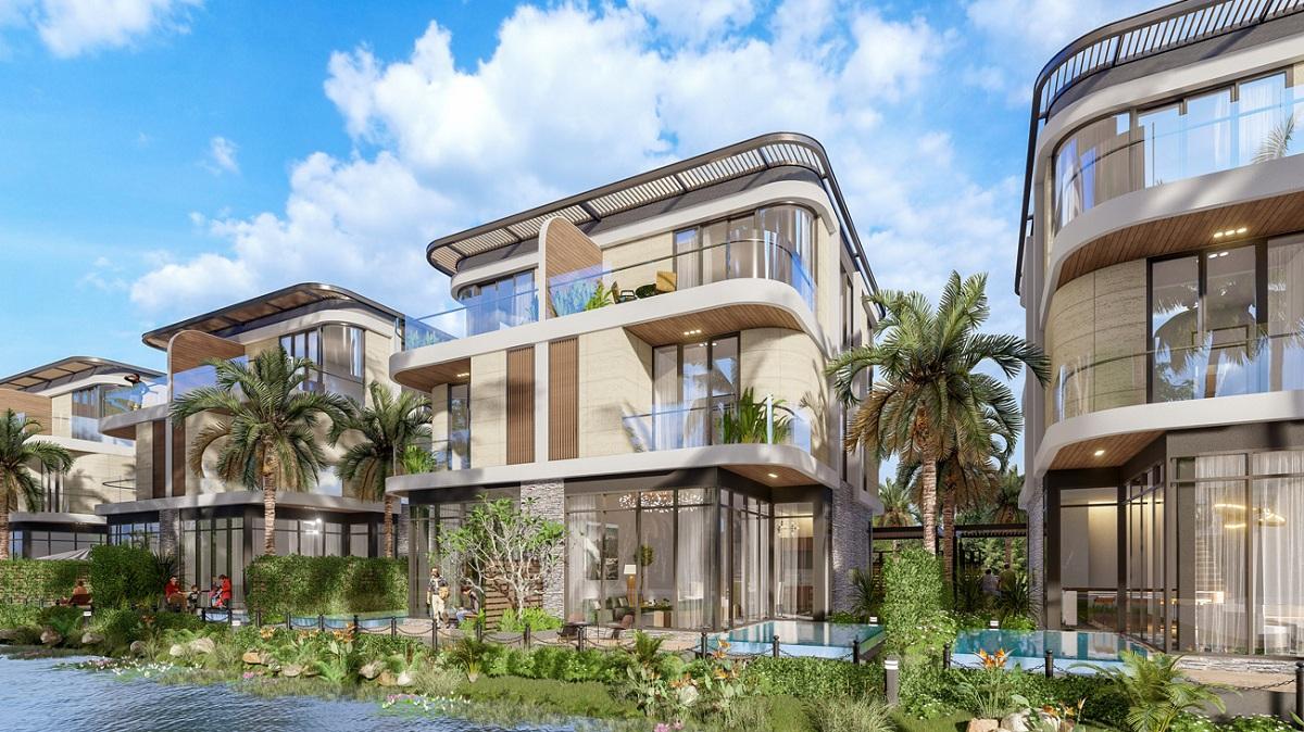 Phối cảnh sản phẩm biệt thự song lập Semi Detached Villa dự án Venezia Beach