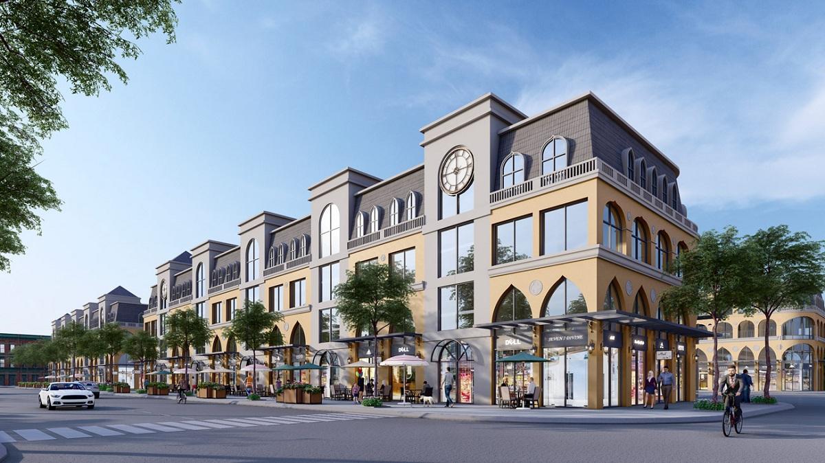 Phối cảnh thiết kế Shophouse nhà phố thương mại