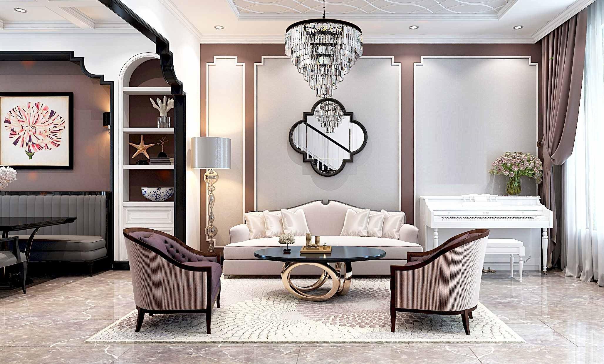 Phong cách thiết kế nội thất cổ điển thường được sử dụng trong nhà phố, biệt thự