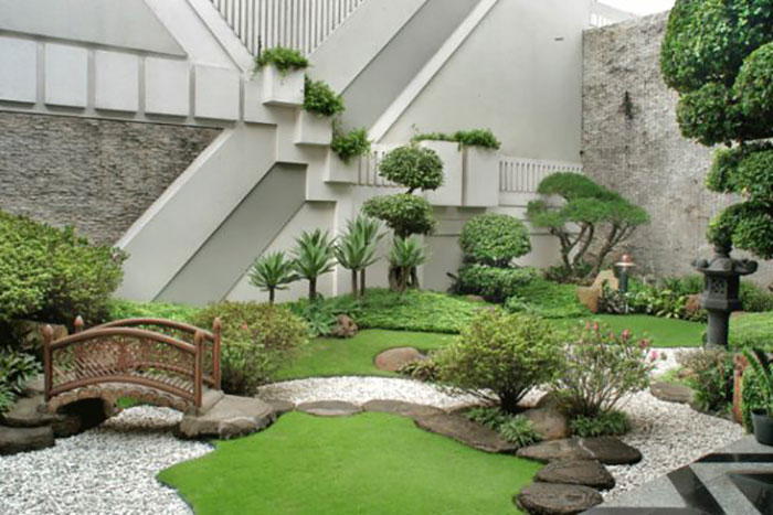 Sân vườn thiết kế theo phong cách Nhật Bản
