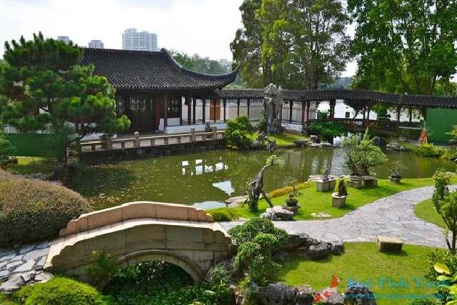 Sân vườn thiết kế theo phong cách Trung Quốc