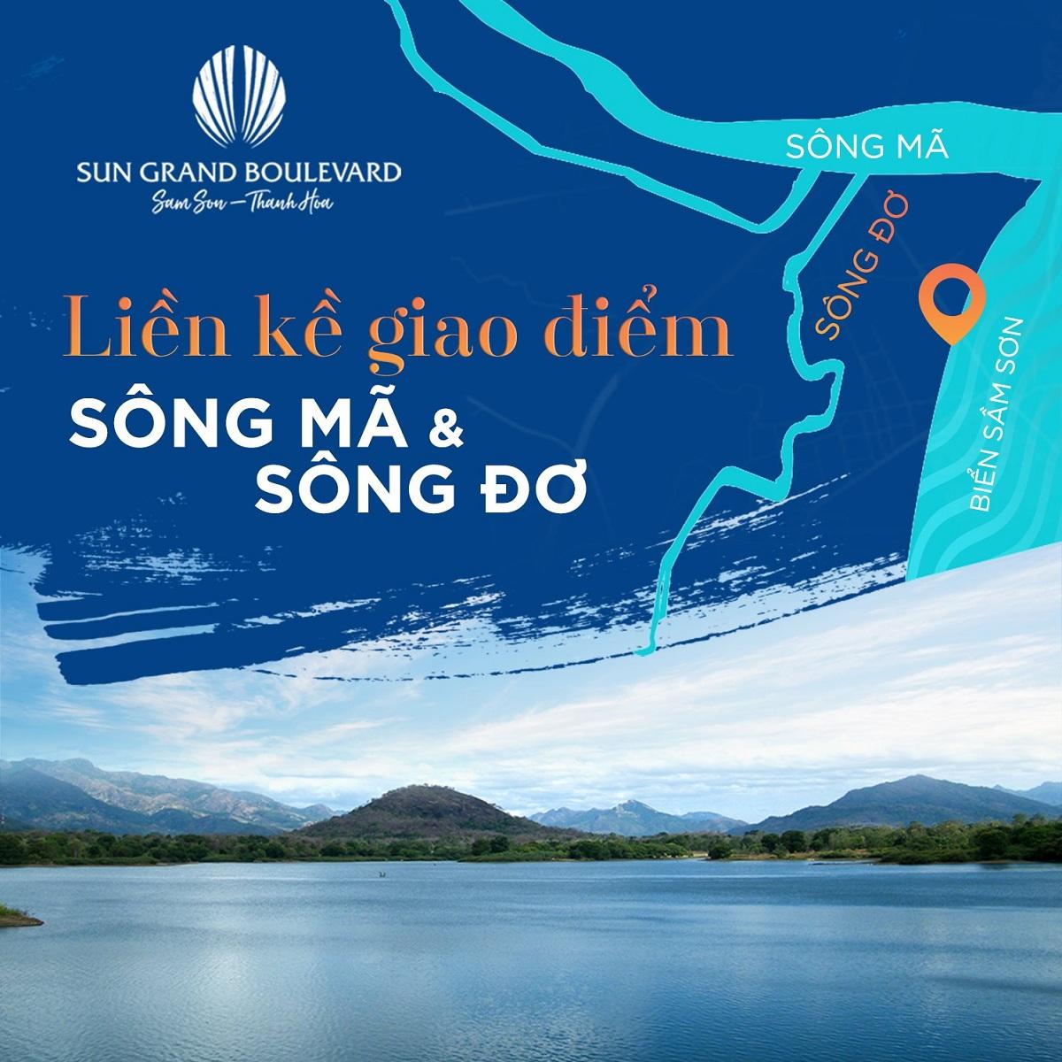 Sun Grand Boulevard Sầm Sơn là điểm giao kết nối của Sông Mã và Sông Đơ