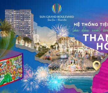 Sun Grand Boulevard Sầm Sơn Thanh Hóa bố trí hàng loạt tiện ích lần đầu có mặt tại Sầm Sơn