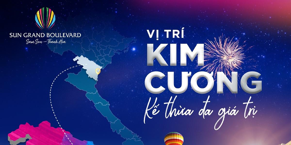 """Sun Grand Boulevard Sầm Sơn Thanh Hoá dù """"đẻ muộn"""" nhưng sở hữu vị trí kim cương"""