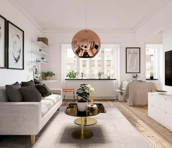 thiết kế nội thất phòng khách tiện nghi, sang trọng