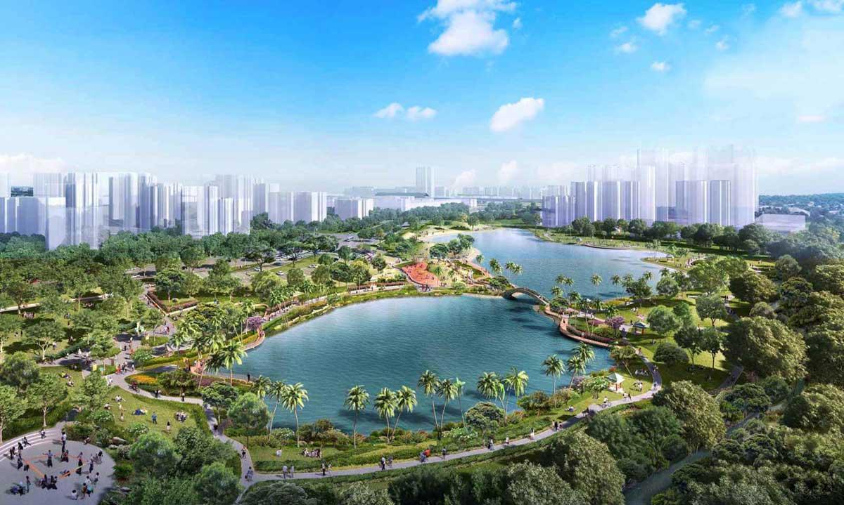 Tiện ích hồ sinh thái bố trí trong dự án chính là điểm đến hấp dẫn cho mọi cư dân