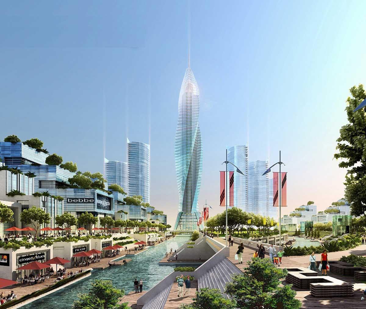 Tiện ích tòa tháp trung tâm KĐT với thiết kế độc đáo chinh phục mọi ánh nhìn người xem