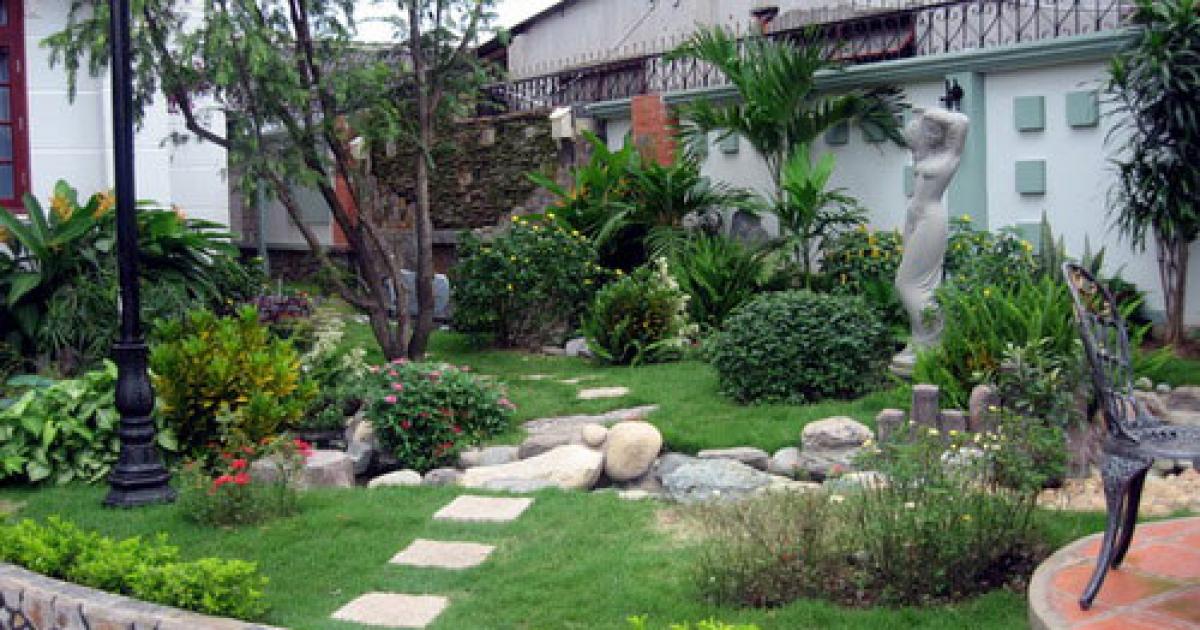 Mẫu tiểu cảnh sân vườn khô đẹp hoàn mỹ