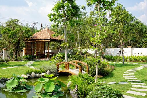 Giải tỏa căng thẳng, cải thiện sức khỏe với sân vườn đẹp
