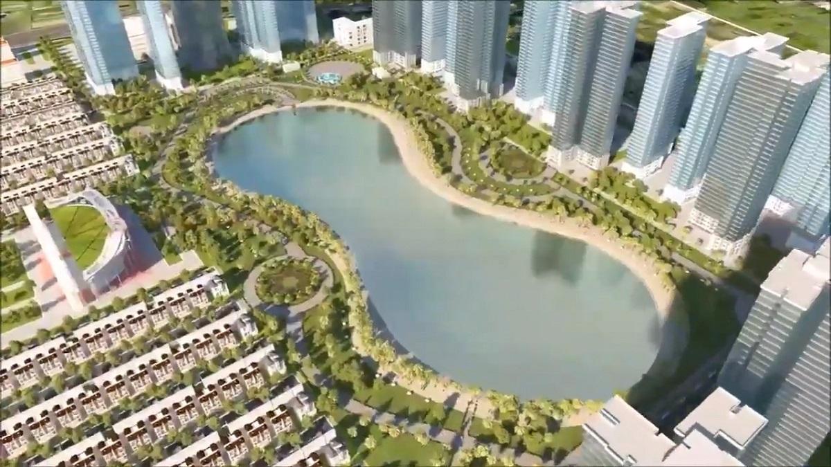 Vinhomes Dream City Hưng Yên nổi bật với hồ nước cảnh quan đẹp mắt