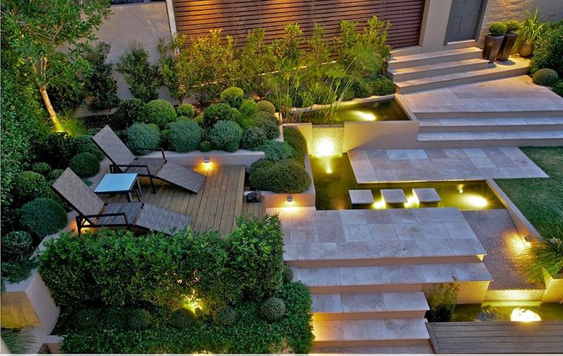Sân vườn phong cách châu Âu luôn có kiểu cây trồng viền và tạo hình khối