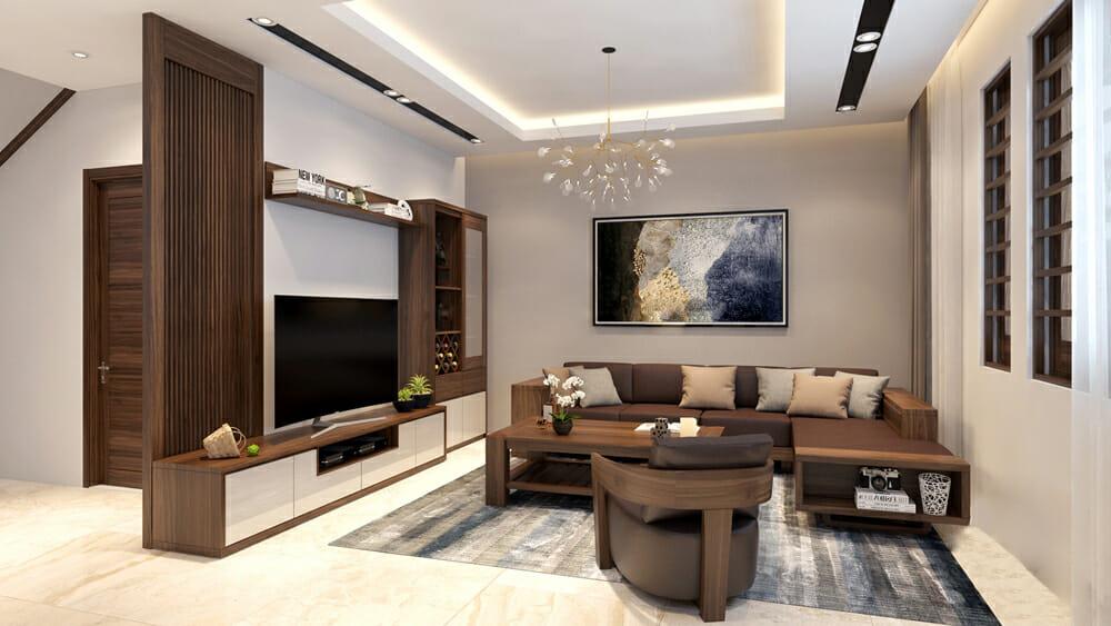 Sắp xếp nội thất chính của phòng khách