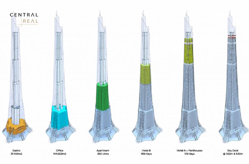 Tòa tháp có thiết kế vô cùng nổi bật
