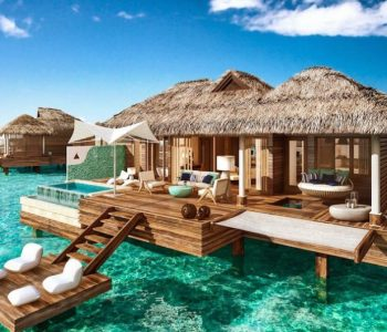 Một bungalow lơ lửng trên biển