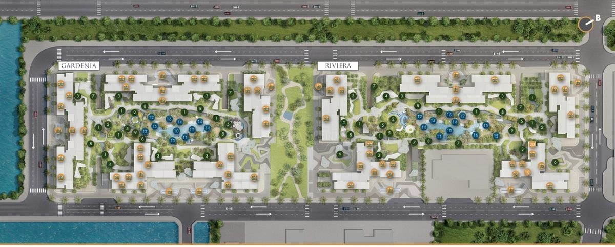 Chi tiết mặt bằng bố trí tổng thể dự án Masteri Centre Point sẽ được triển khai