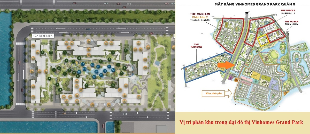 Chi tiết mặt bằng xây dựng phân khu Gardenia của dự án Masteri Centre Point