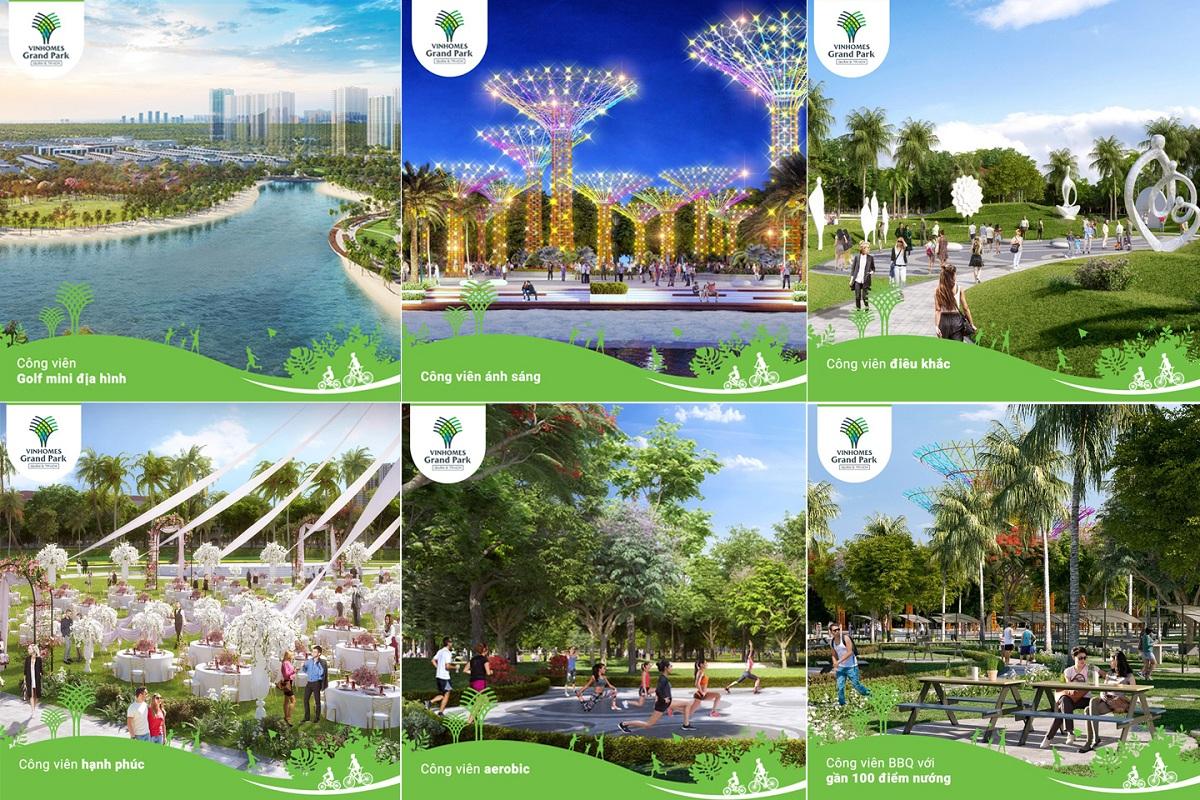 Chuỗi tiện ích ngoại khu có 1 không 2 khi dự án được xây dựng trong Vinhomes Grand Park