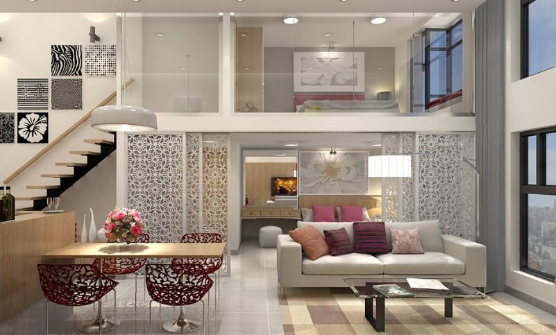Căn hộ Duplex có đặc điểm nổi bật nhất là thiết kế thông tầng