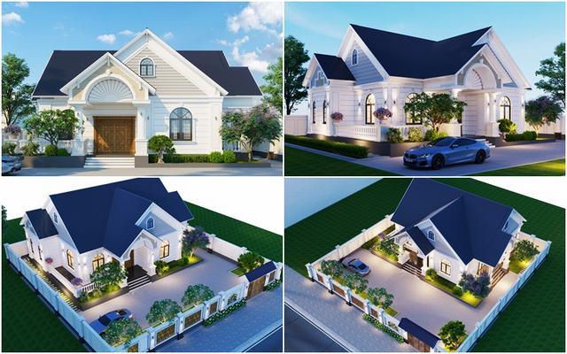 Mẫu thiết kế nhà ba gian hiện đại đẹp với diện tích 130m2 chiều ngang 13m chiều dài 10m