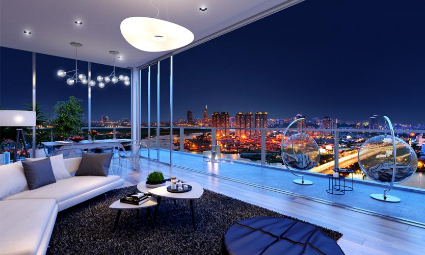 Với góc nhìn 360 độ từ CH Penthouse.