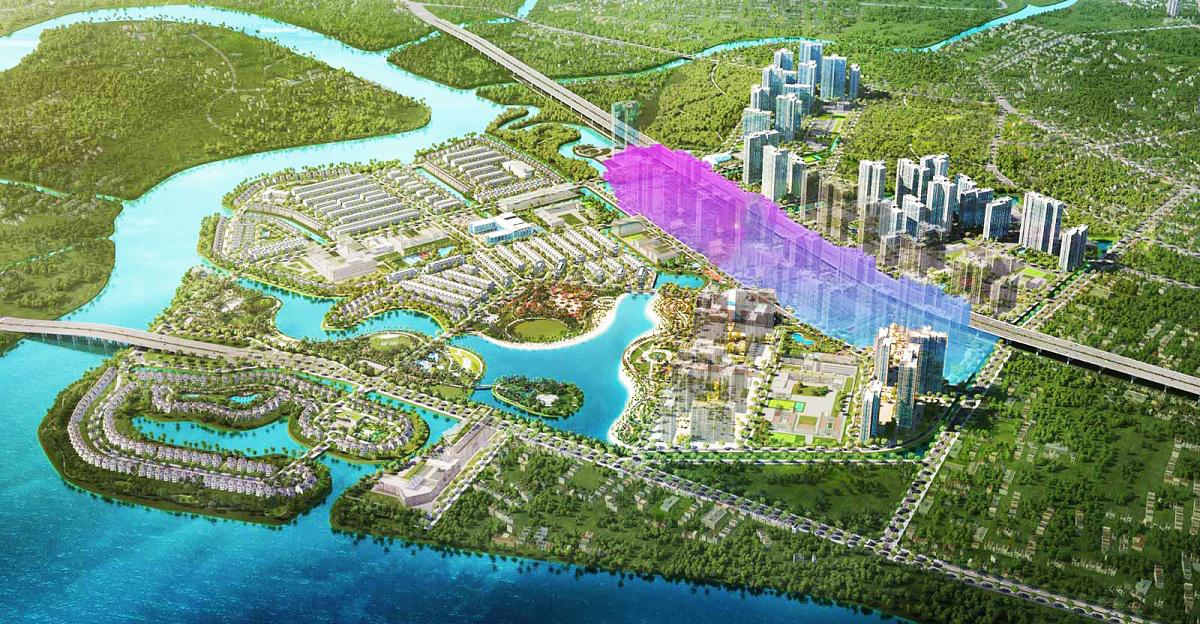 Phối cảnh vị trí chính các dự án Masteri Centre Point khi chính thức hoàn thành xây dựng