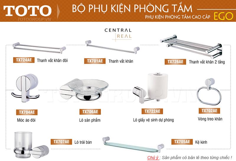 Bộ phụ kiện phòng tắm Royal ToTo rất đa dạng về mẫu mã và chất liệu