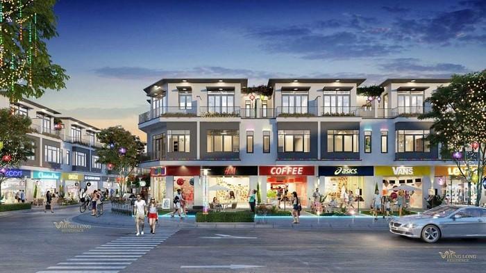 CĐT thường sẽ chọn những vị trí tại các trung tâm dự án, tuyến đường lớn, nơi đông người qua lại để làm Shophouse