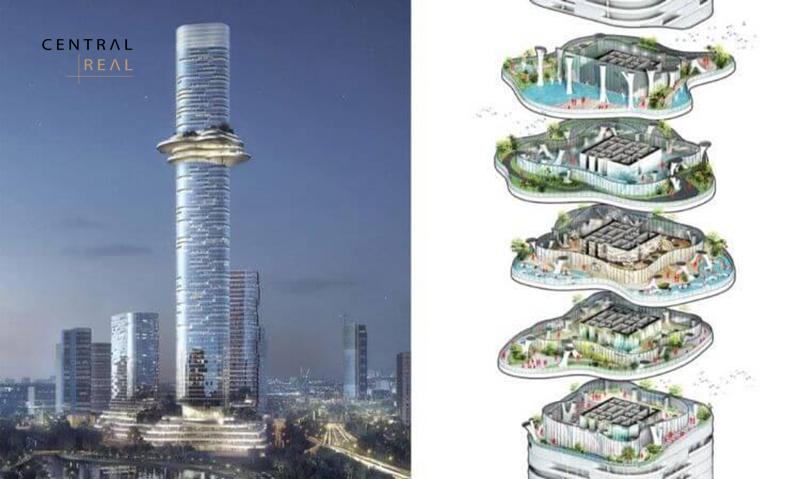 Empire 88 Tower sở hữu thiết kế đẹp và ấn tượng