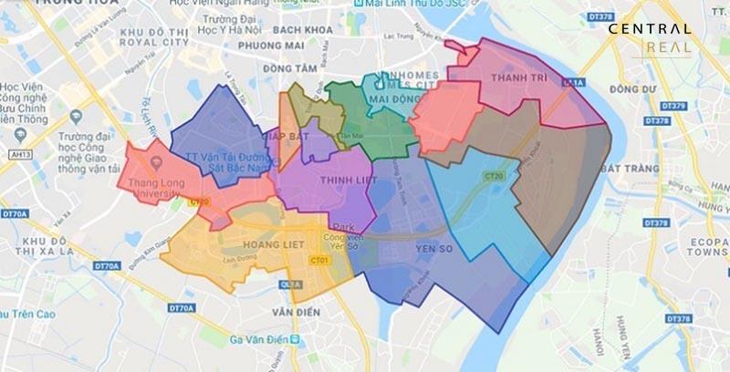 Quy hoạch các tuyến đường cấp khu vực quận
