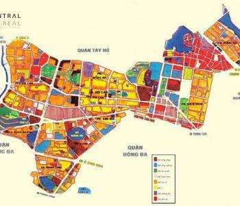 Bản đồ quy hoạch chi tiết quận Ba Đình