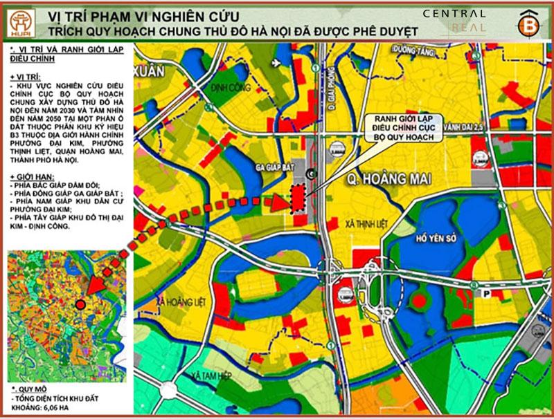 Bản đồ quy hoạch giao thông quận Hoàng Mai